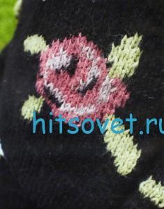 Вязание пуловера с розами, фото 2.