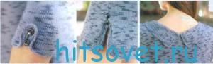 Вязаное платье из меланжевой пряжи, фото 2.
