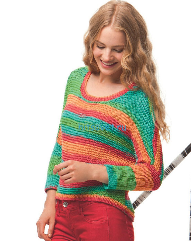 Женский пуловер из хлопка