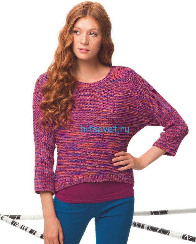 Модная модель женского пуловера