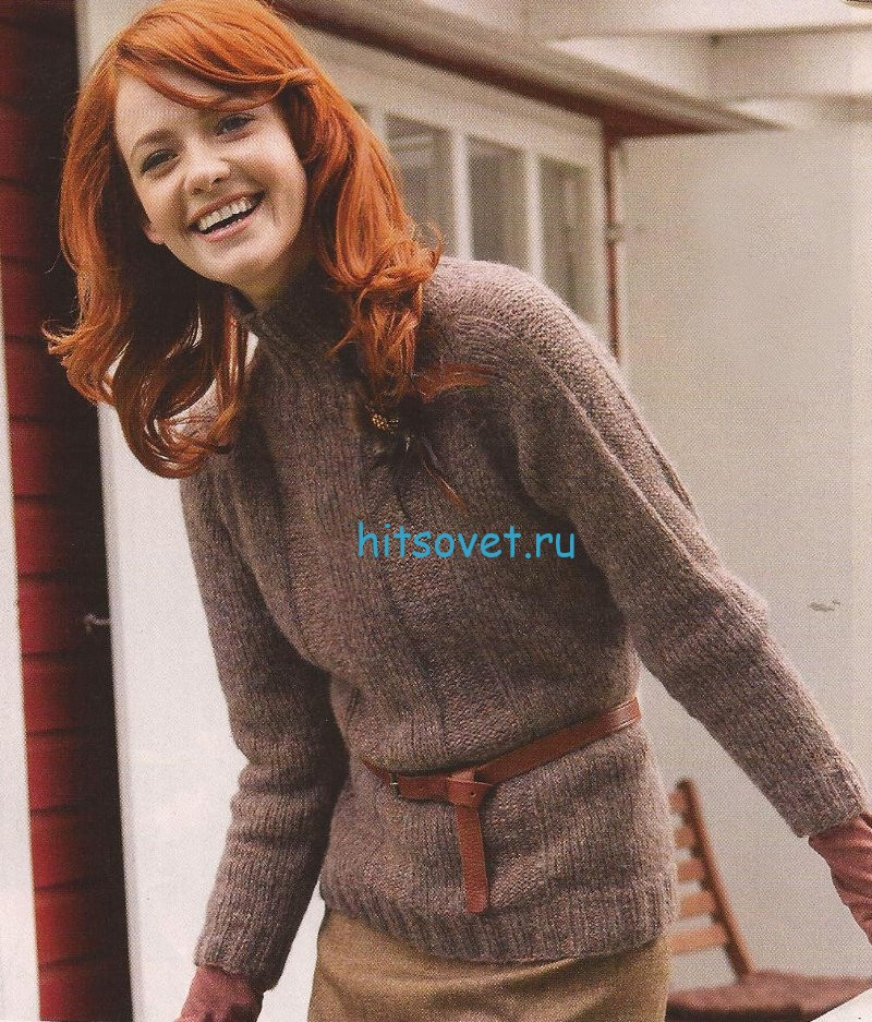 Пуловер реглан для начинающих