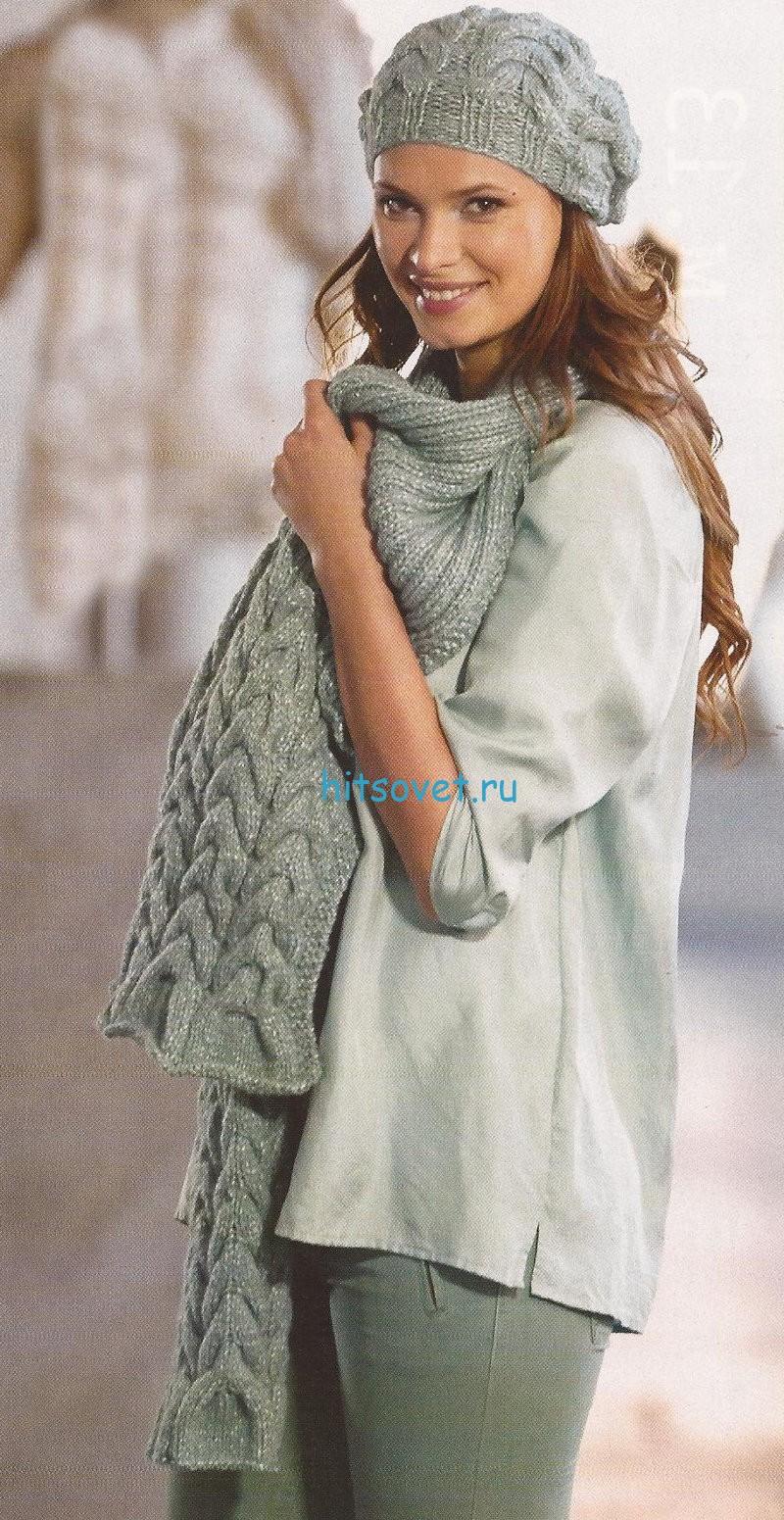 Вязание спицами шапки шарфы фото