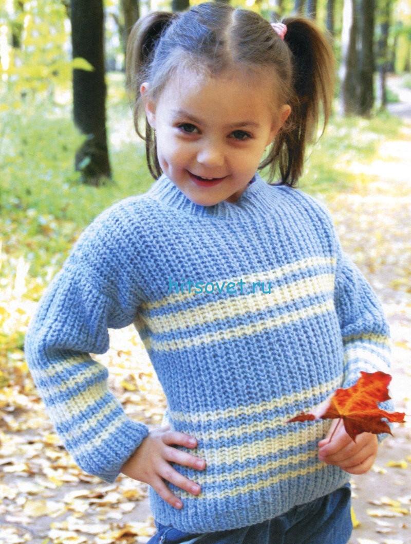 Вязание для девочек 4-5 лет свитера