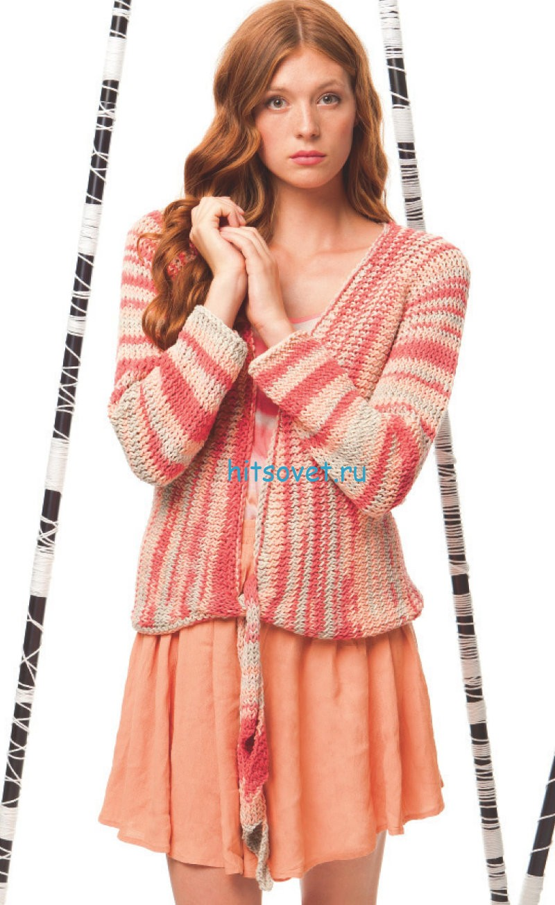 Вязание женского жакета спицами