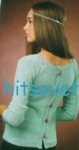 Вязание жакета с пуговицами на спинке, фото 2.