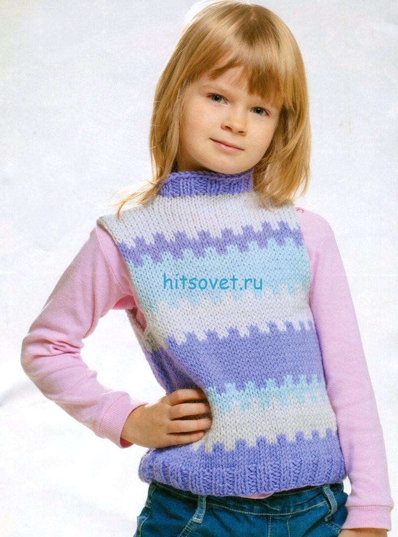 Вязание для девочек безрукавки