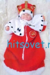 Вязаный комплект для малыша «Маленький император», фото 2.