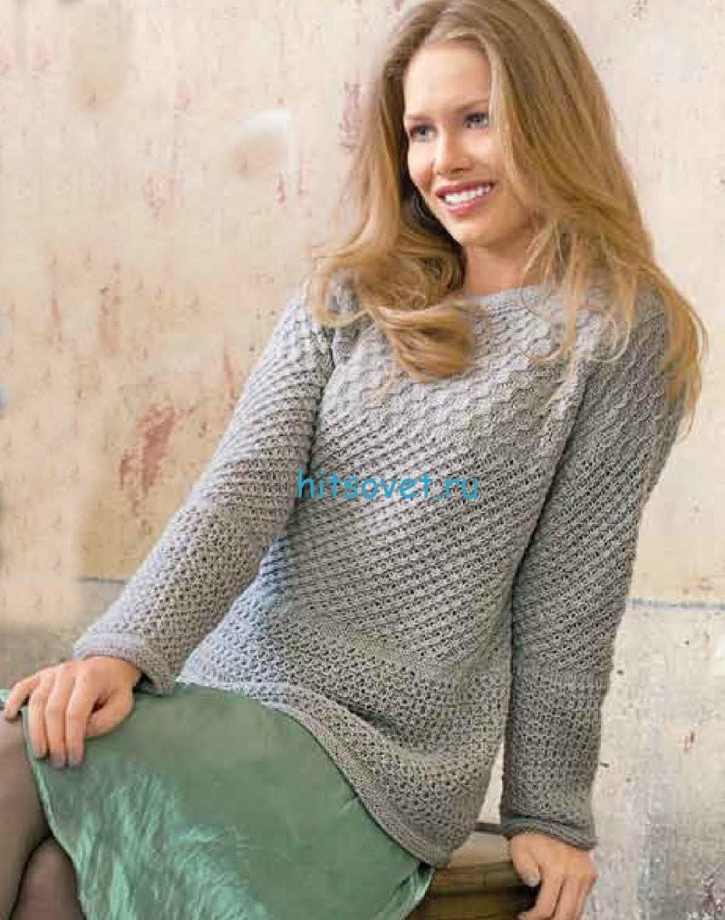 Узорчатый пуловер для женщин схема