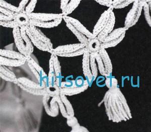 Вязание шали из цветочных мотивов, фото 2.