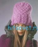 Вязание шапки с широкой резинкой