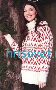 Жаккардовый свитер, фото 2.