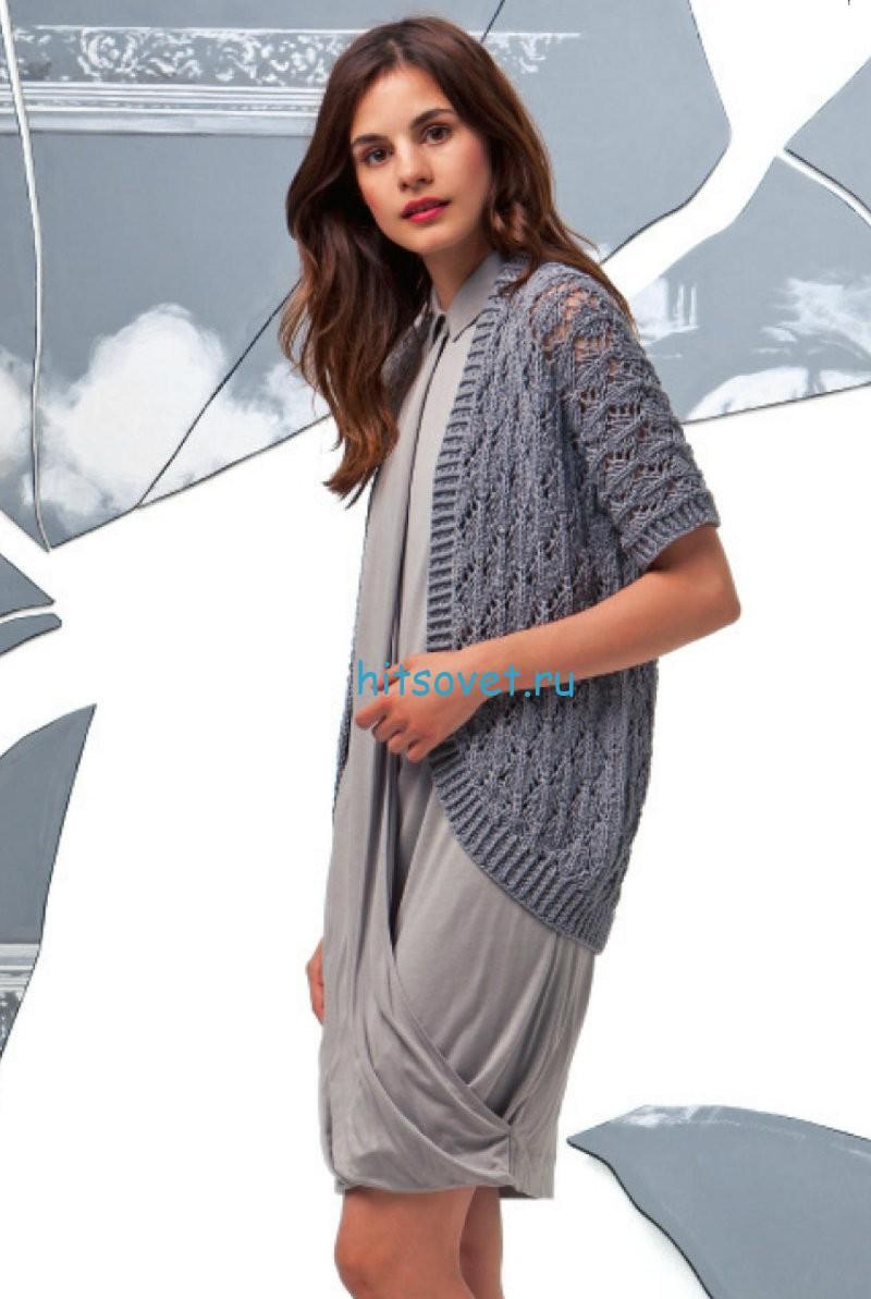 Вязание жакета без застежки со схемой