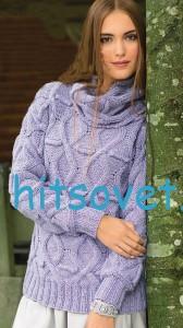 Вязание пуловера и снуд спицами