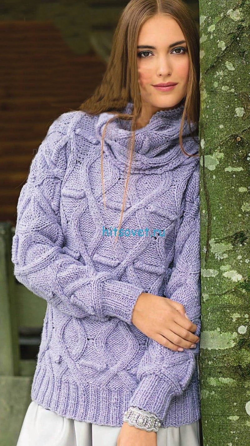 Пуловер и снуд
