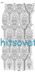 Вязаное болеро и юбка крючком, схемы 2.