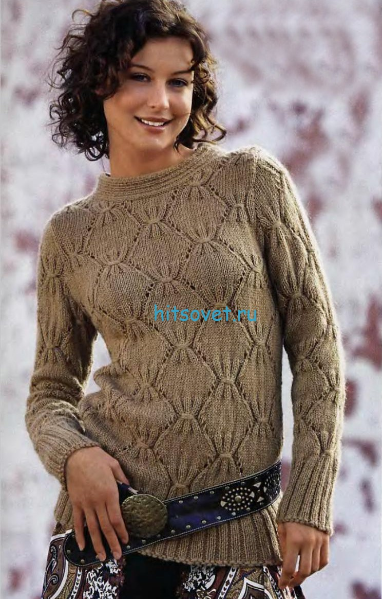 Женский красивый пуловер схема