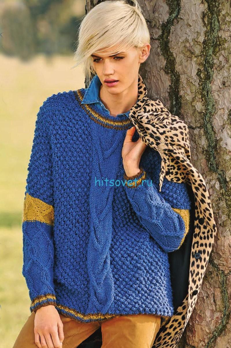Пуловер с персидским узором