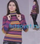 Вязание пуловера из секционной пряжи