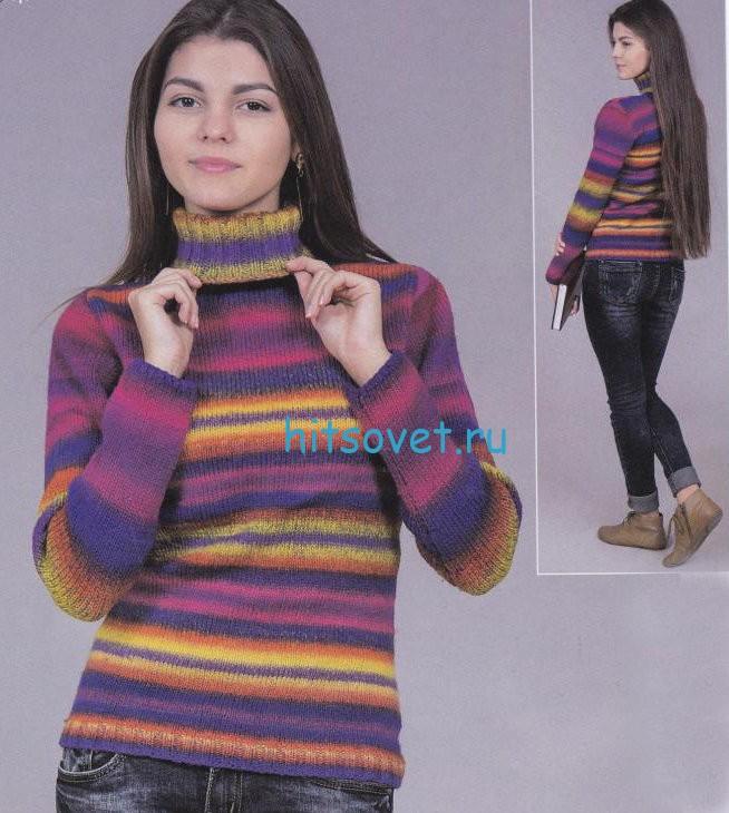 Вязание свитера из секционной пряжи