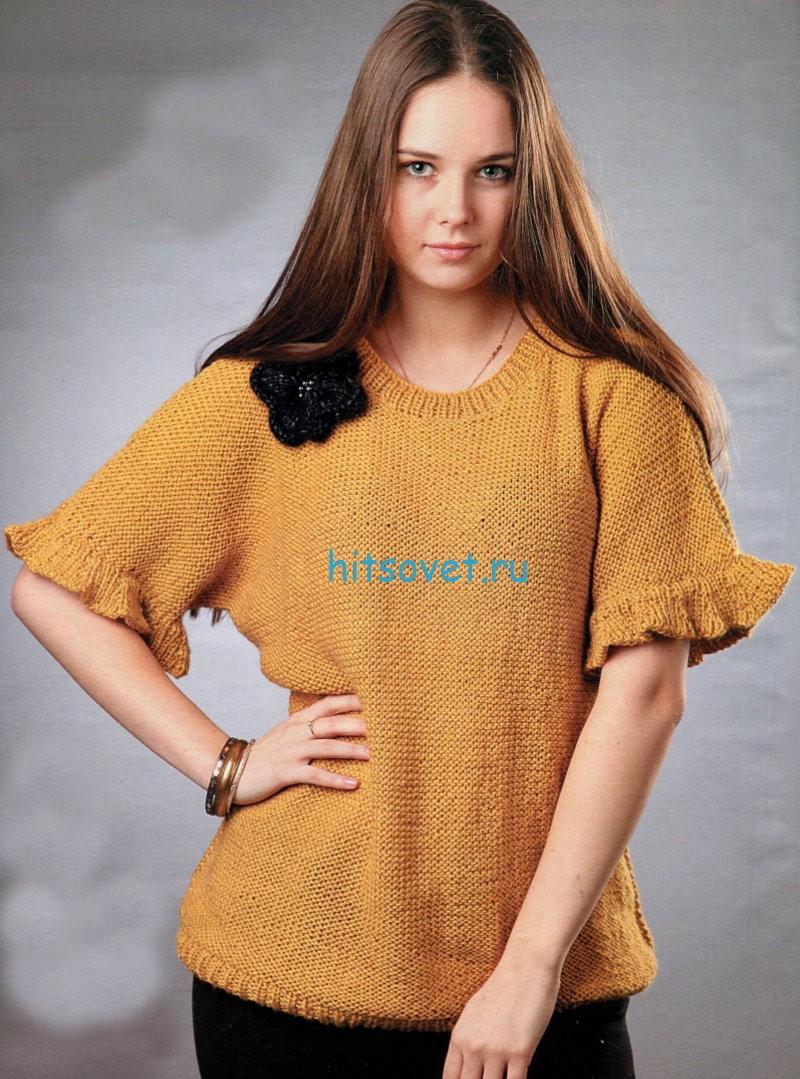 Женский пуловер для начинающих