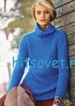 Вязание свитера с рельефным узором