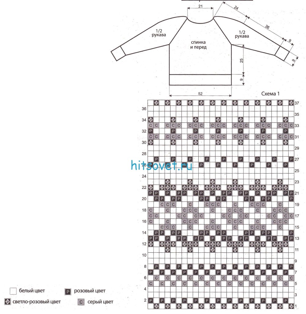 Свитер лопапейса вязание сверху на 1 5 года спицами схема 35