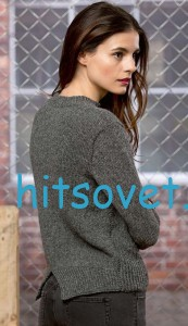 Женский пуловер с разрезом, фото 2.