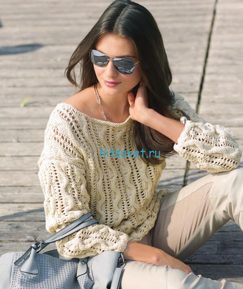 Красивый летний пуловер