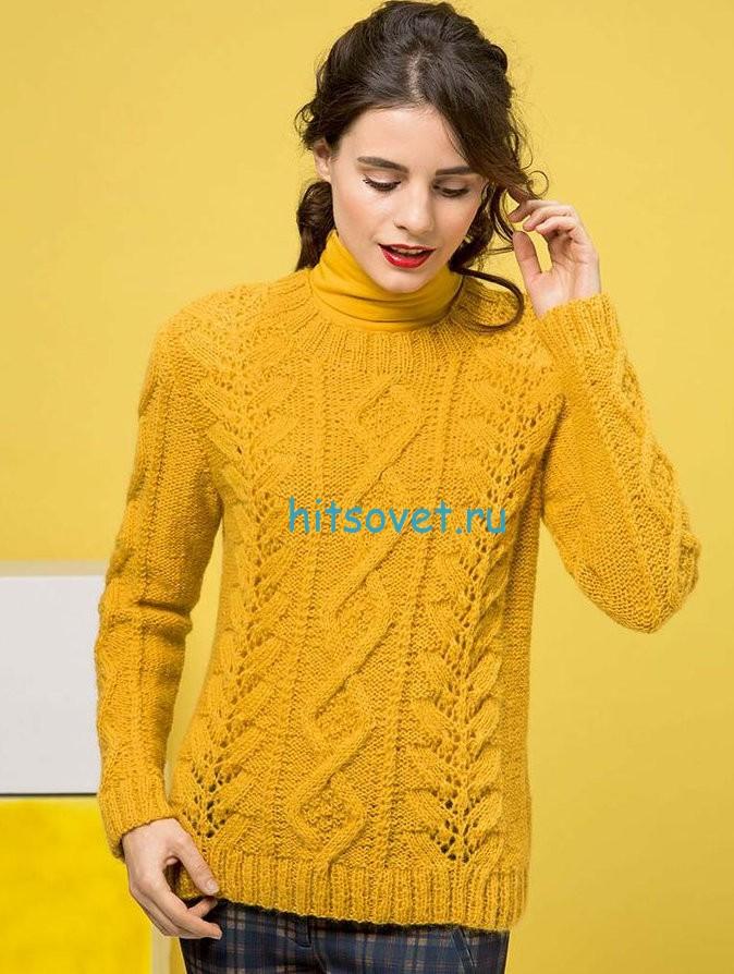 Узорчатый пуловер для женщин