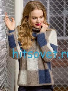Пуловер в клетку