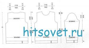 Мужской пуловер спицами схема и описание, выкройка.