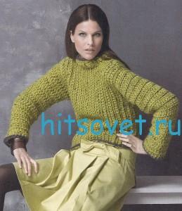 Женский вязаный свитер крючком