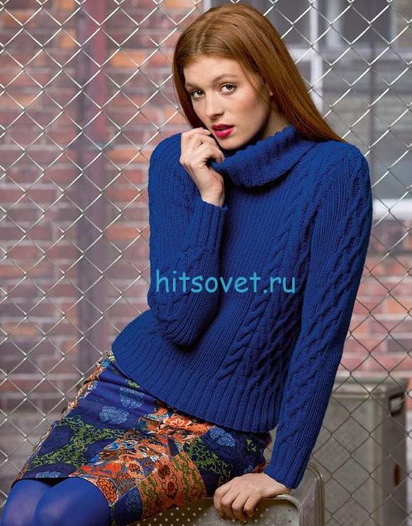 Вязаный свитер для женщин схема и описание, фото.
