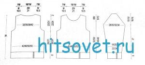 Вязаный свитер для женщин схема и описание, выкройка.