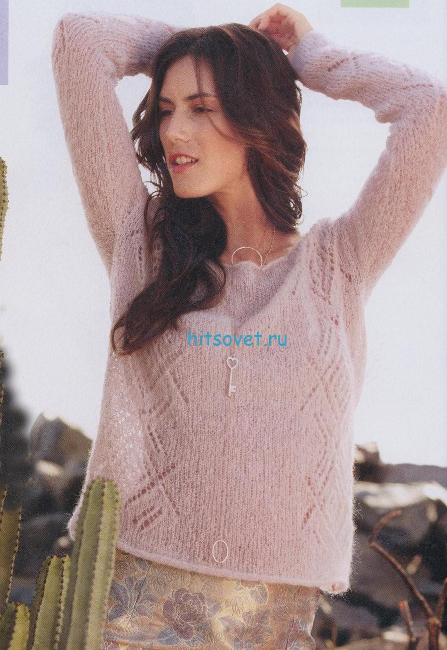 Легкий вязаный пуловер