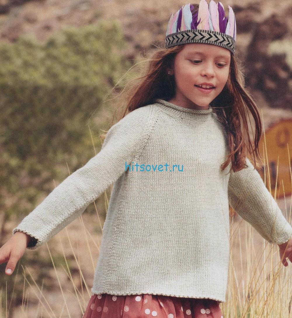 вязание для девочек пуловера