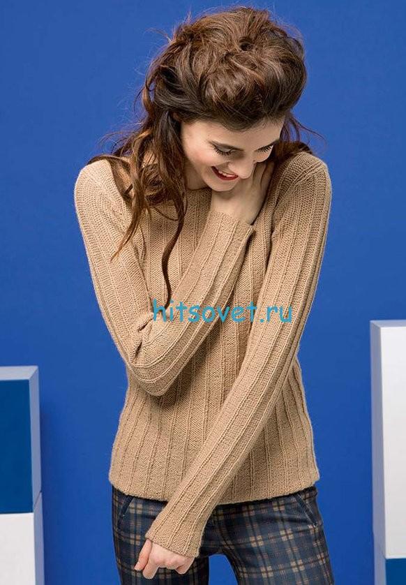 Женский пуловер из альпаки