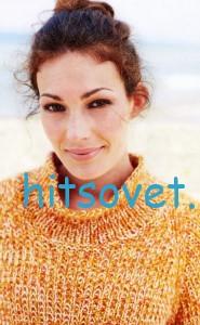Свободный вязаный свитер, фото 2.