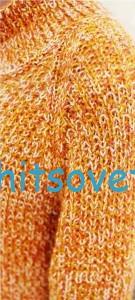 Свободный вязаный свитер, фото 3.