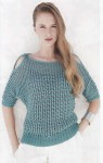 Вязаный пуловер сетка