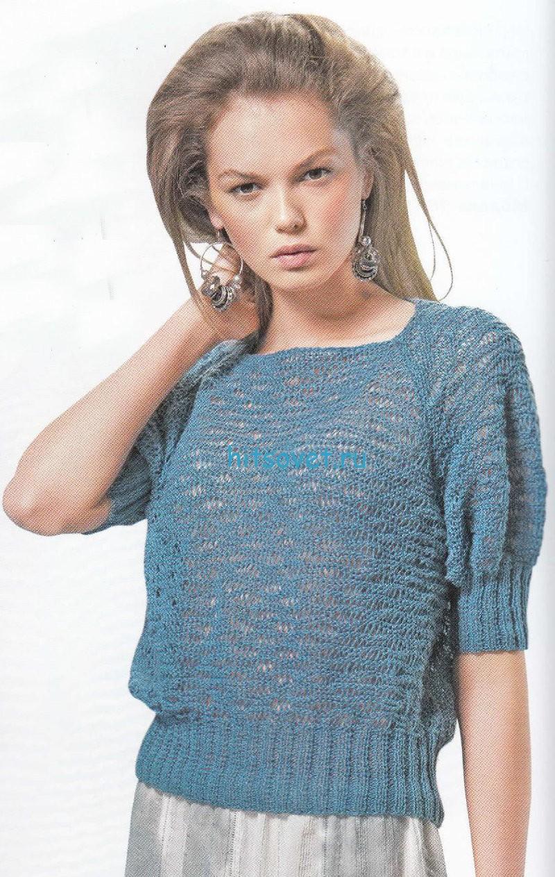 Женский вязаный пуловер схема и описание
