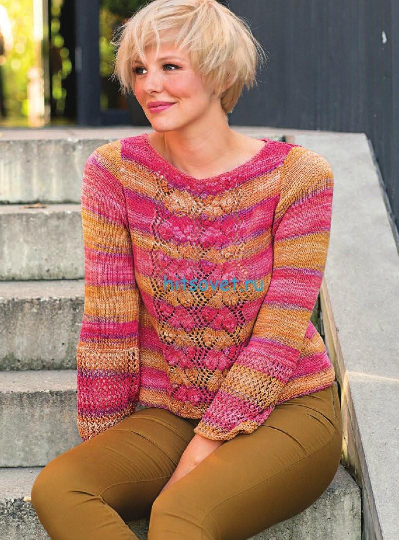 Полосатый пуловер из секционки