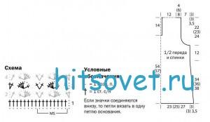 Схема и выкройка безрукавки крючком