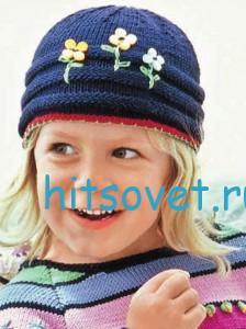 Вязание спицами для детей пуловер и шапка, фото 2.
