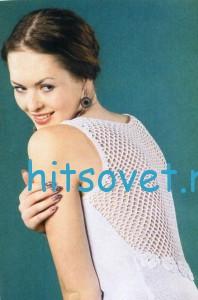 Вязаное платье с сеткой на спинке, фото 2.