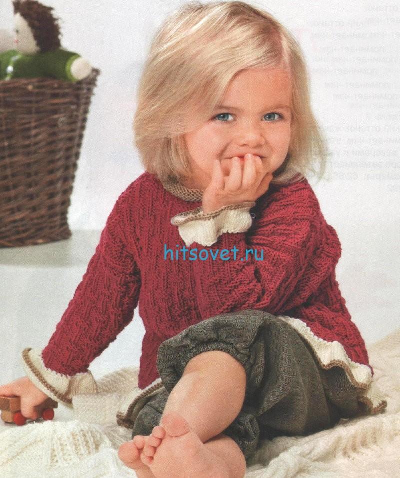 Вязание для девочки пуловера схема