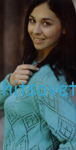 Вязаный пуловер реглан с описанием вязания, фото 2.