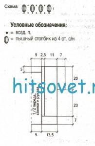 Женский вязаный пуловер с бесплатным описанием, схема.