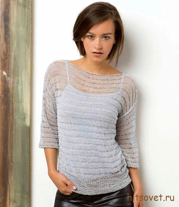 Женский пуловер летний