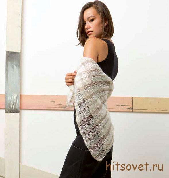 Вязание шали спицами для начинающих, фото 2.